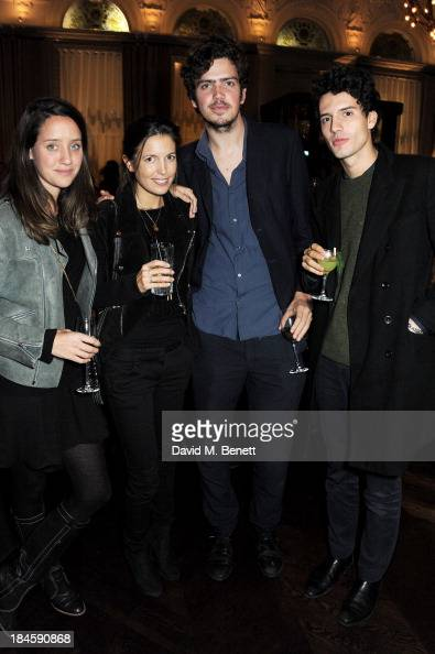 India Langton Amanda Sheppard Preston Thompson and guest attend the London EDITION and NOWNESS dinner to celebrate ON COLLABORATION on October 14...