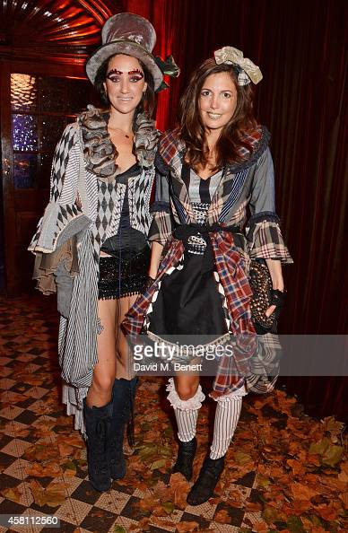 India Langton and Amanda Sheppard attend the Unicef UK Halloween Ball raising vital funds to help protect Syria's children from danger at One Mayfair...