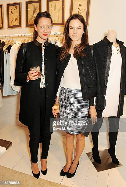 India Langton and Fran Hickman attend a drinks reception celebrating the opening of Club Monaco's first London store in Westbourne Grove on October...