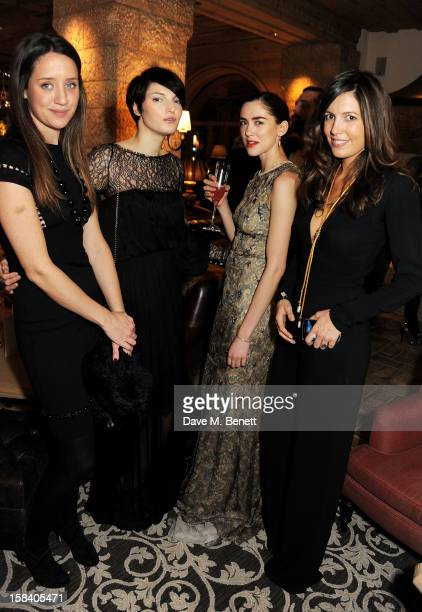 India Langton Ben Grimes Rosa Connell and Amanda Ferry attend the ASMALLWORLD Gala Dinner for the Alzheimer's Society at The Gstaad Palace Hotel on...
