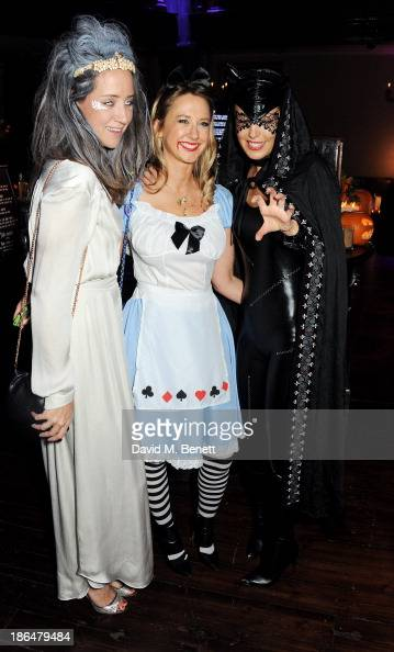 India Langton guest and Amanda Sheppard attend the UNICEF UK Halloween Ball hosted by Jemima Khan raising vital funds for UNICEF's work for children...