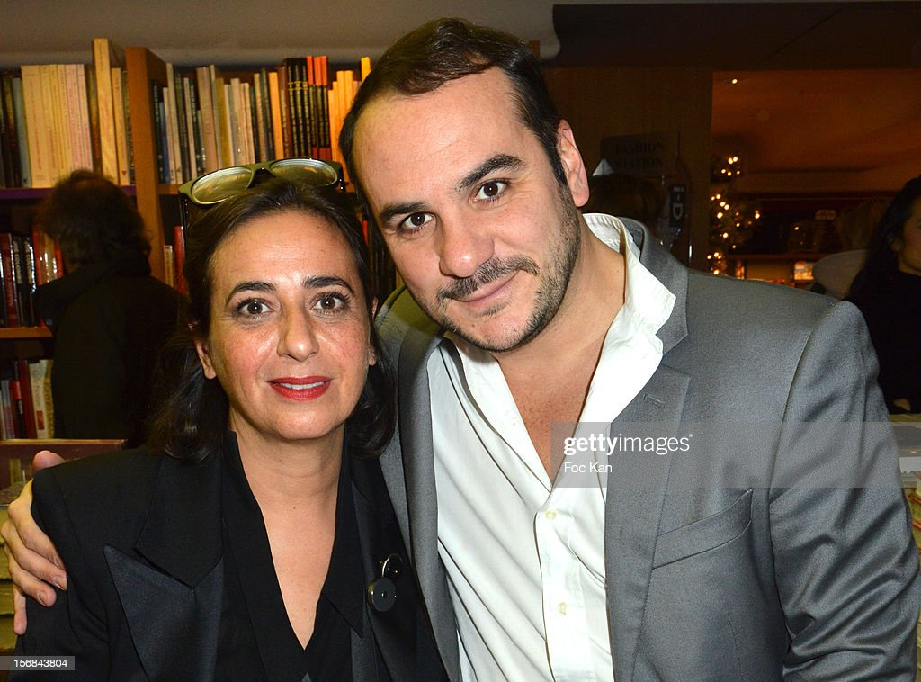 India Mahdavi and Francois Xavier Demaison attend 'Home' India Madhavi and Soline Delos Book Launch at Musee Arts Decoratif Bookshop on November 22, 2012 in Paris, France.