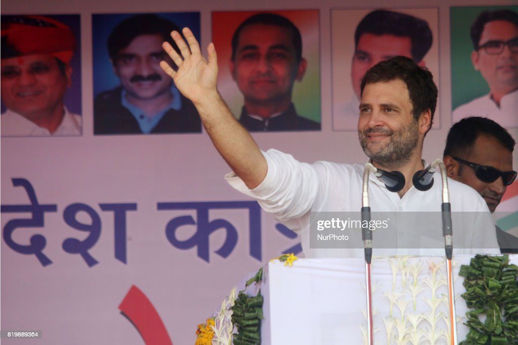 Rahul Gandhi at Kisan Akrosh Rally in Banswara