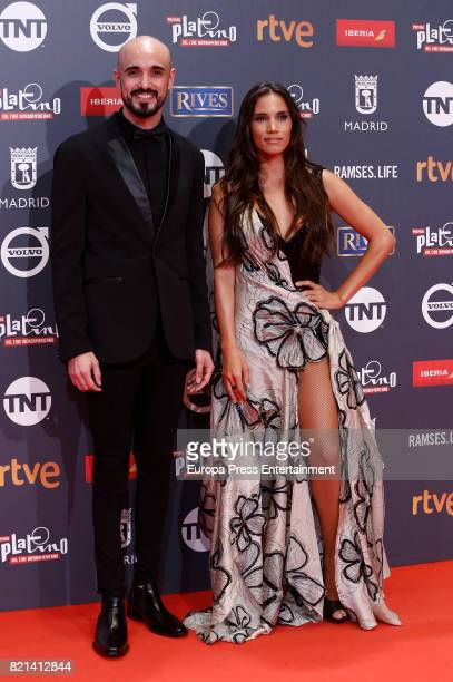 India Martinez and Abel Pinto attend Platino Awards 2017 at La Caja Magica on July 22 2017 in Madrid Spain