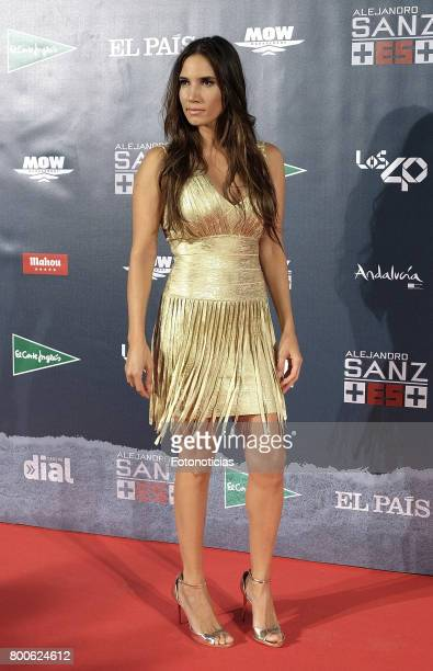 India Martinez attends the 'Mas Es Mas' concert photocall at Vincente Calderon stadium on June 24 2017 in Madrid Spain