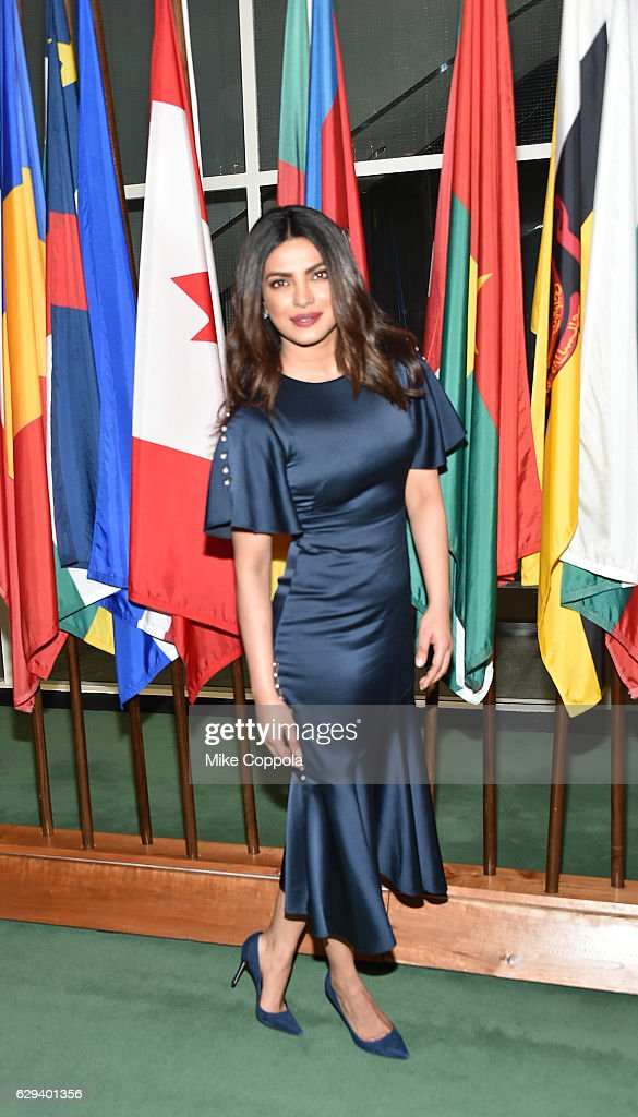 India National Ambassador Priyanka Chopra attends UNICEF's 70th Anniversary Event at United Nations Headquarters on December 12, 2016 in New York City.