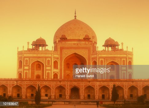 India, New Delhi, Humayun's Tomb : Stock Photo