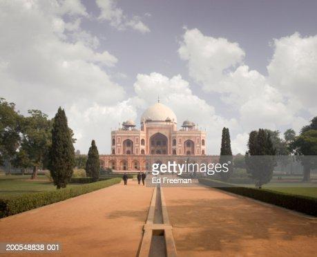 India, New Delhi, Humayun's Tomb : Stock Photo