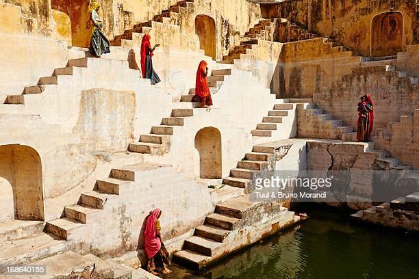 India, Rajasthan, Jaipur, water tank for rain