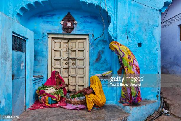India, Rajasthan, Jodhpur, the blue city