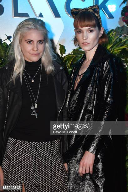 India Rose James and Chelsea Houston attend Dali's Dream Halloween party hosted by Velocity Black and The Mandrake Hotel on October 27 2017 in London...