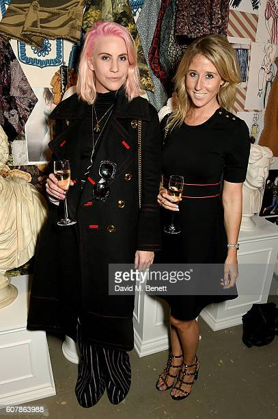 India Rose James and Fawn James wearing Burberry at the Burberry September 2016 show during London Fashion Week SS17 at Makers House on September 19...