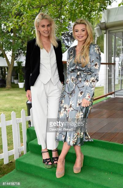 India Rose James and Georgia Toffolo attend day two of the three day Festival in Newmarket the home of horseracing at Newmarket Racecourse on July 14...