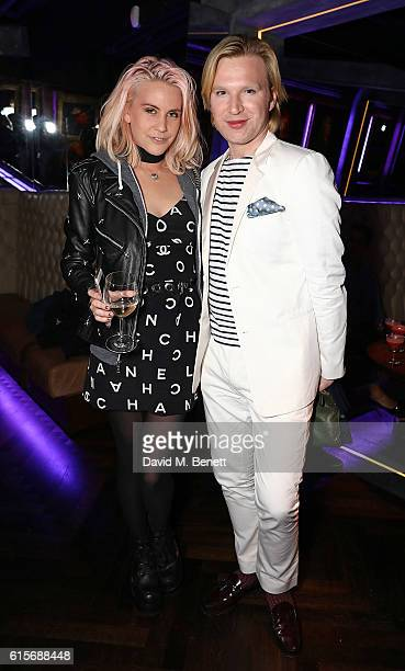 India Rose James and Henry Conway attend the launch of MNKY HSE latenight restaurant Mayfair on October 19 2016 in London England