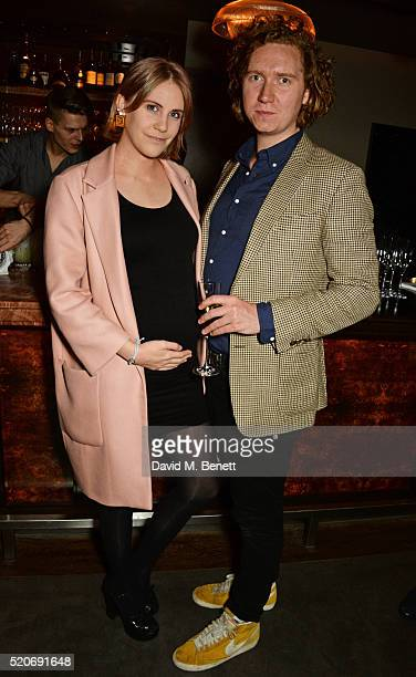 India Rose James and Hugh Harris attend Fashion Targets Breast Cancer's 20th Anniversary Party at 100 Wardour St on April 12 2016 in London England