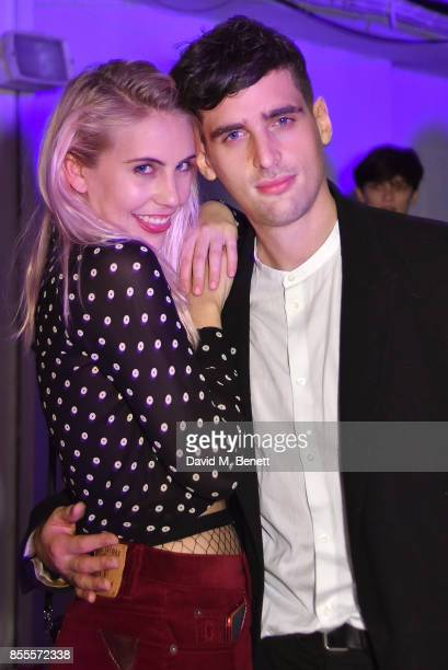 India Rose James and William MarkarianMartin attend a private view of artist Chemical X's new exhibition 'CX300' at The Vinyl Factory on September 28...