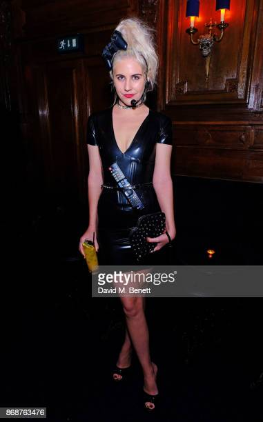 India Rose James attends Fran Cutler's Halloween Freak Show at Tramp on October 31 2017 in London England
