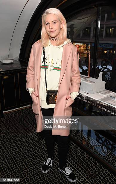 India Rose James attends the Aurum Grey Spring Summer 2017 collection preview at The Wolseley on January 12 2017 in London England