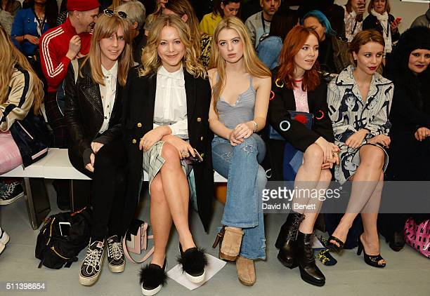 India Rose James Poppy Jamie Anais Gallagher Angela Scanlon and Billie JD Porter attend the SIBLING show during London Fashion Week Autumn/Winter...