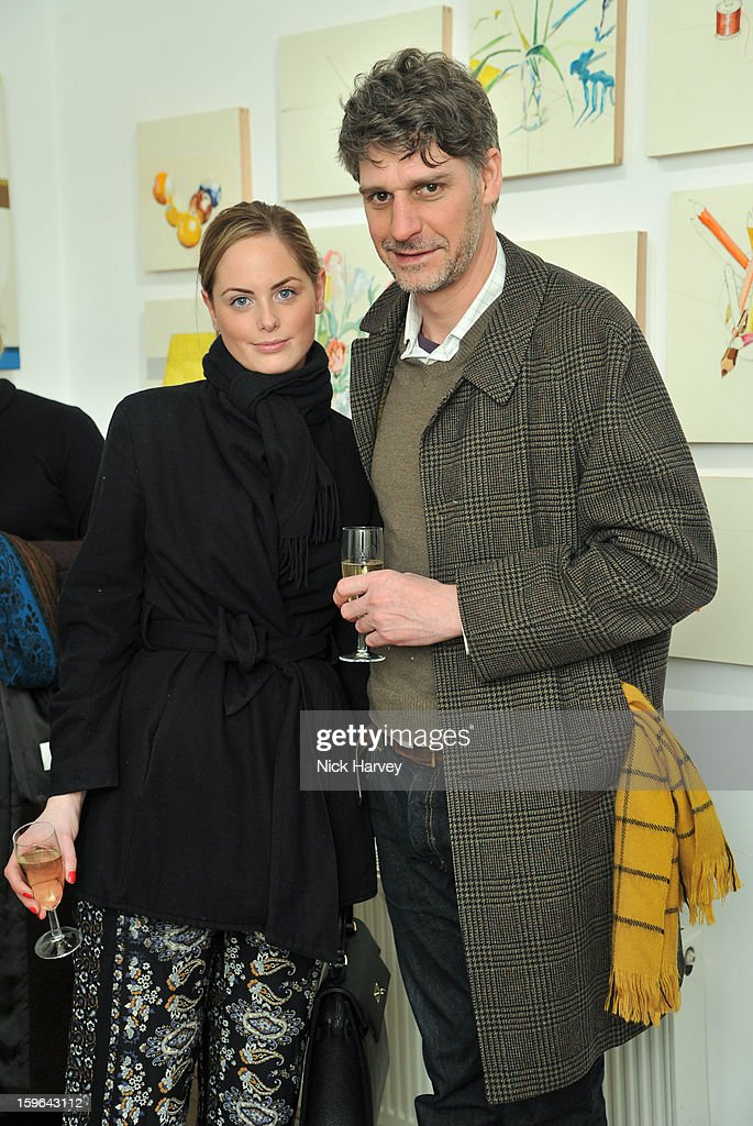 India Saunton and Jim Bishop attend the private view of Martha Parsey: If I Was 6 at Eleven on January 17, 2013 in London, England.