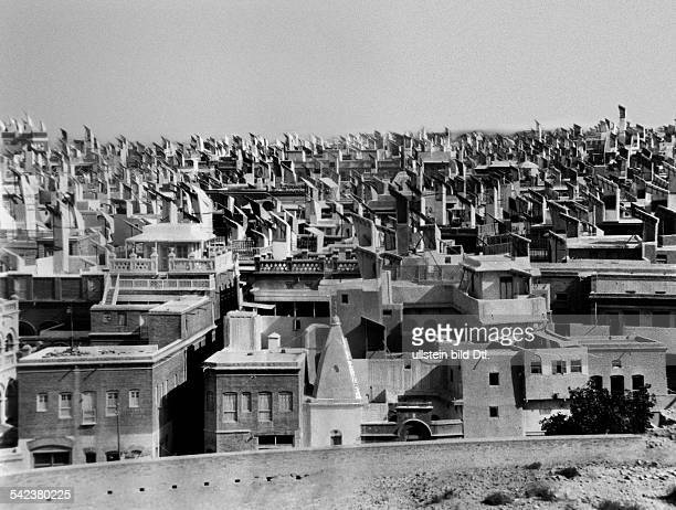 India Sindh Hyderabad View on the city with its wind scoops ca 1927 Photographer Martin Huerlimann Published by 'Berljner Illustrirte Zeitung'...