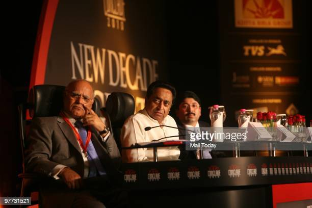 India Today editor Prabhu Chawla Union Cabinet Minister of Road Transport and Highways Kamal Nath and Union minister for Textiles Dayanidhi Maran at...