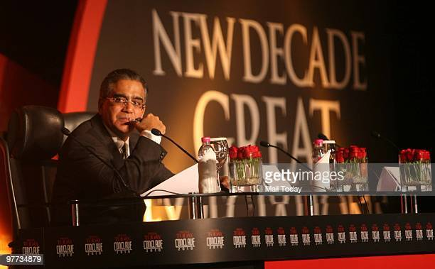 India Today group chairman Aroon Purie at the India Today Conclave in New Delhi on March 12 2010