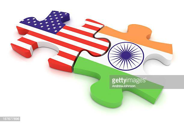 India USA Puzzle Concept