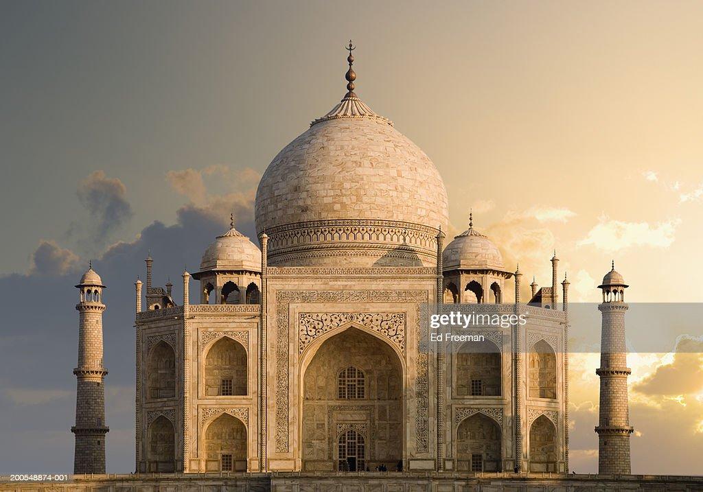 India, Uttar Pradesh, Agra, Taj Mahal, dawn : Stock Photo