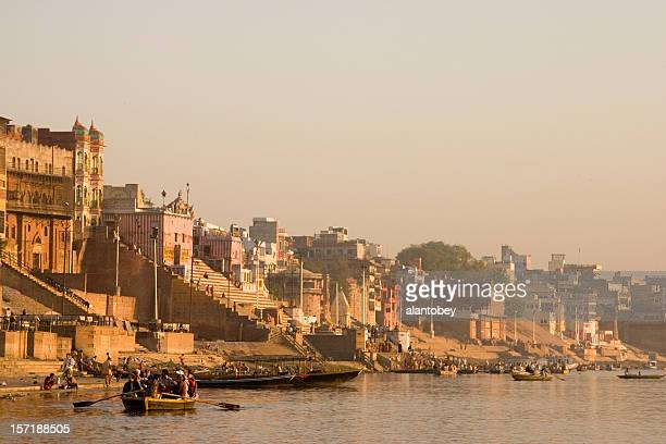 India: Varanasi, Ghats on the Ganges River