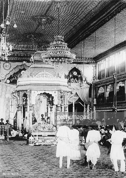 India wedding ceremony of a maharaja Indian dancing girls and musicians perform in the palace probably in the 1910s