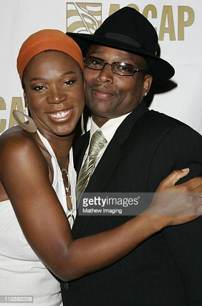 IndiaArie and Terry Lewis during The 18th Annual Rhythm Soul Music Awards Arrivals at The Beverly Hills Hotel in Beverly Hills California United...
