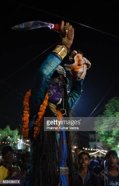 India-Kali swang during Dussehra Festival
