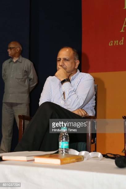 Indian academic Pratap Bhanu Mehta during the launch of a book 'The Nation as Mother And Other Visions of Nationhood' by historian and politico...