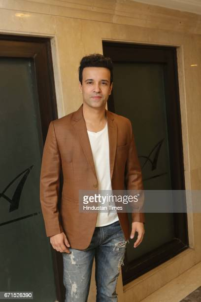 Indian actor Aamir Ali Malik during the wedding reception of INLD MP Dushyant Chautala with Meghna Ahlawat at Ashoka Hotel on April 20 2017 in New...