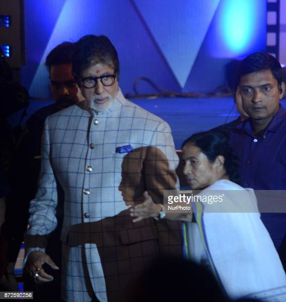 Indian Actor Amitabh Bachchan and West Bengal Chief minister Mamata Banerjee during the inauguration ceremony of 23rd Kolkata International Film...