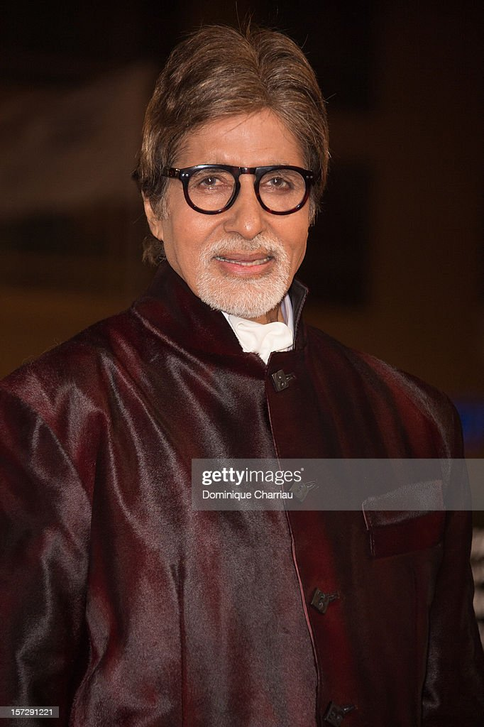Indian actor <a gi-track='captionPersonalityLinkClicked' href=/galleries/search?phrase=Amitabh+Bachchan&family=editorial&specificpeople=220394 ng-click='$event.stopPropagation()'>Amitabh Bachchan</a> arrives for the tribute to Hindi cinema at the 12th Marrakech International Film Festival on November 30,Marrakech International 12th Film Festival on December 1, 2012 in Marrakech, Morocco.