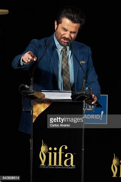 Indian actor Anil Kapoor attends the press conference for the 17th edition of IIFA Awards at the Palace Hotel on June 23 2016 in Madrid Spain