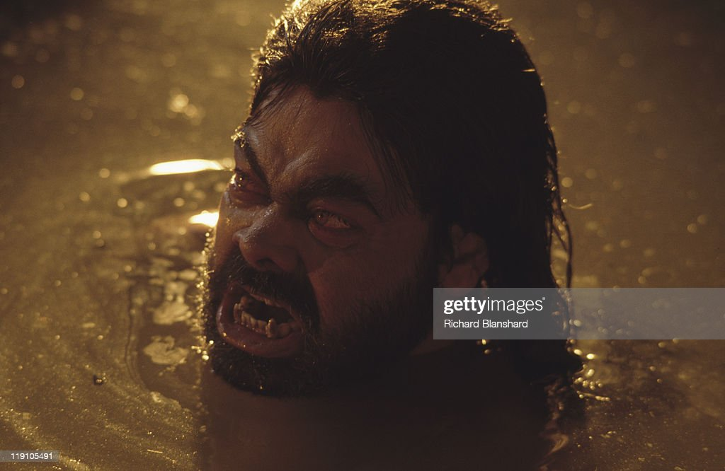 Indian actor Anupam Shyam stars as the demon Mara in the film 'Little Buddha', circa 1992.