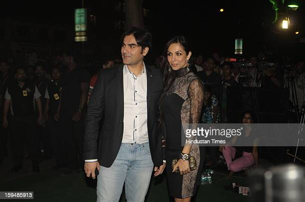 Indian actor Arbaaz Khan with his wife Malaika Arora Khan attending party hosted by Sunil Shetty and Mana Shetty on the launch of their new store R...