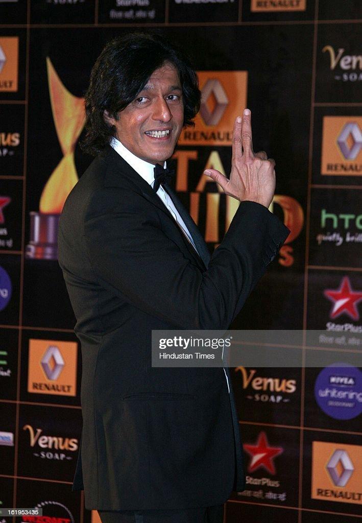 Indian actor Chunky Pandey during Star Guild awards at Yash raj Studio, Andheri on February 16, 2013 in Mumbai, India.