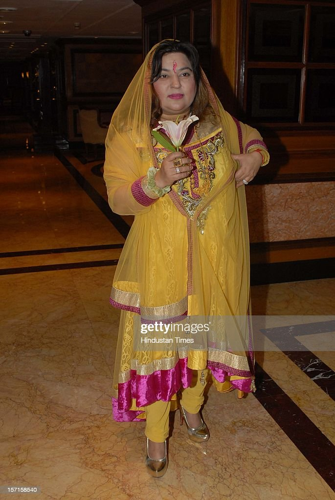 Indian actor Dolly Bindra during IBN 7 Super Idol awards 2012 ceremony at Taj Lands end, Bandra on November 25, 2012 in Mumbai, India.