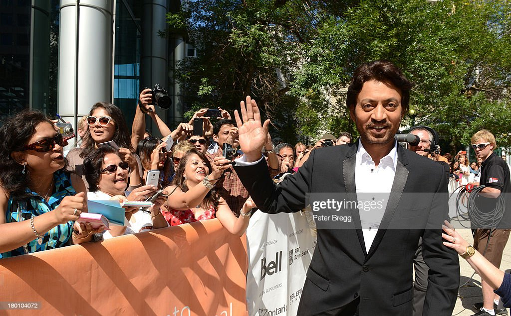 Irrfan Khan attends the premiere of 'The Lunchbox' during the 2013 Toronto International Film Festival at Roy Thomson Hall on September 8, 2013 in Toronto, Canada.