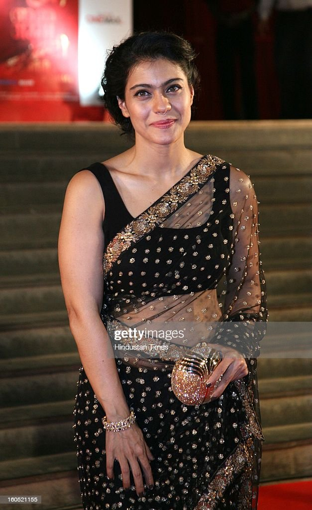 Indian actor Kajol Devgn during premier of Bollywood movie Mai at Cinemax on January 31, 2013 in Mumbai, India.