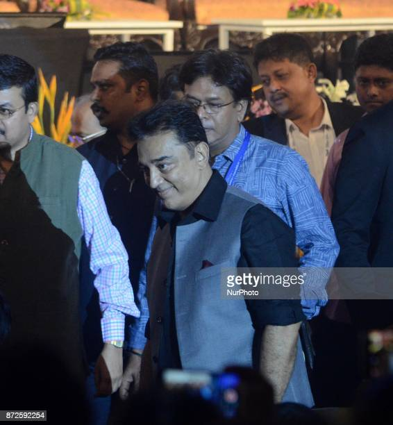 Indian Actor Kamal Hasan during the inauguration ceremony of 23rd Kolkata International Film Festival in Kolkata India on Friday 10th November 2017