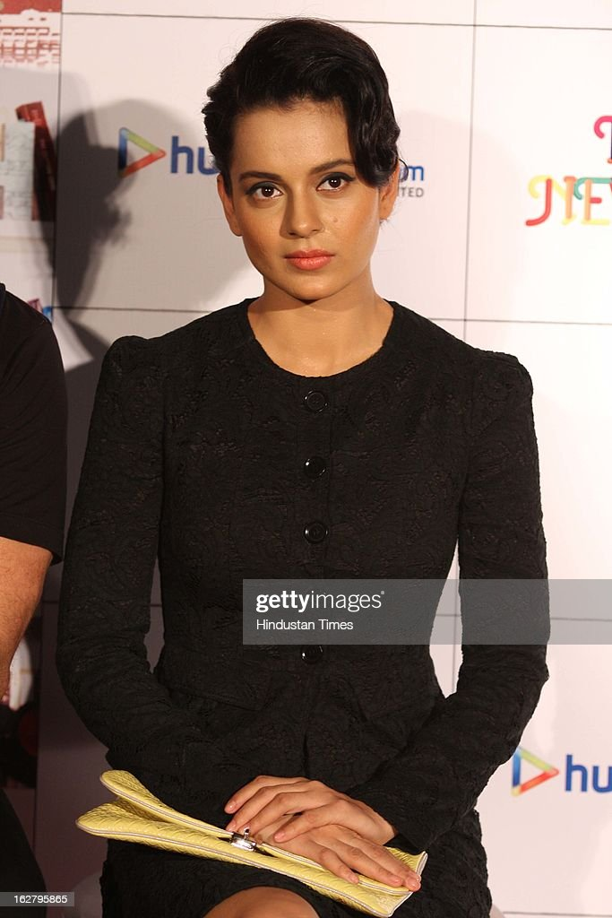 Indian Actor Kangana Ranaut during Trailer launch of her upcoming movie I Love NY at Cinemax on February 25, 2013 in Mumbai, India.