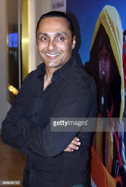 Indian actor Rahul Bose attends the screening of upcoming Hindi film Poorna in Mumbai on March 27 2017 / AFP PHOTO /
