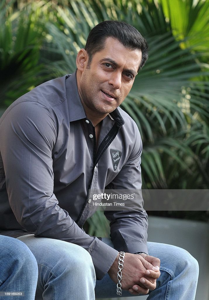 Indian actor <a gi-track='captionPersonalityLinkClicked' href=/galleries/search?phrase=Salman+Khan+-+Actor&family=editorial&specificpeople=558807 ng-click='$event.stopPropagation()'>Salman Khan</a> pose for profile shoot during promotion of his upcoming film Dabangg 2 on December 18, 2012 in New Delhi, India.
