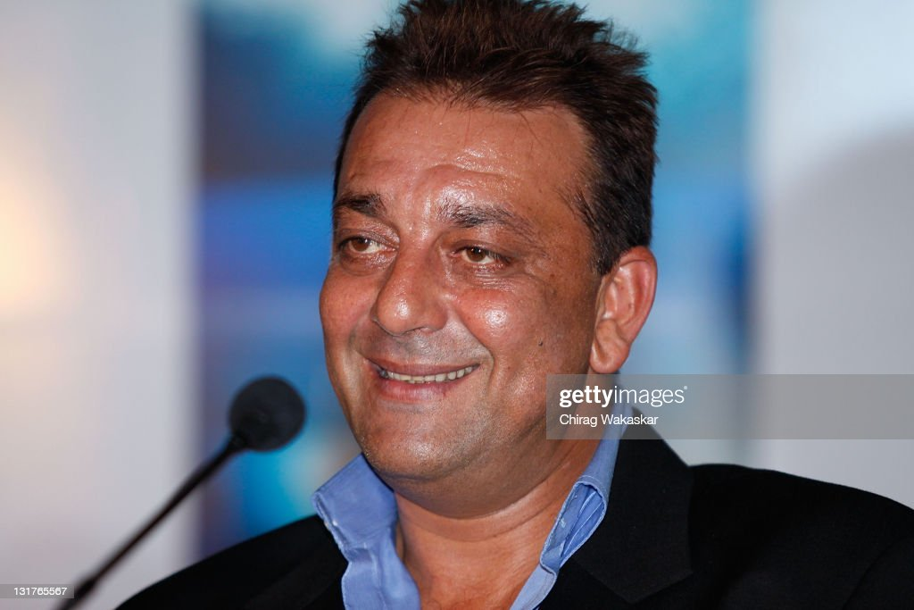 Indian actor Sanjay Dutt attends the press conference for Bollywood movie 'Blue' held at Hotel Renaissance on March 6, 2009 in Bombay, India.