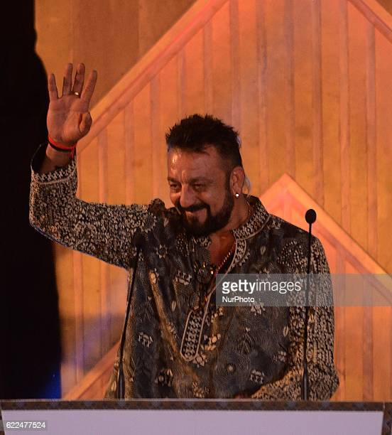 Indian actor Sanjay Dutt waves during the inauguration of the 22nd Kolkata International Film Festival in Kolkata India on Friday 11th November 2016...